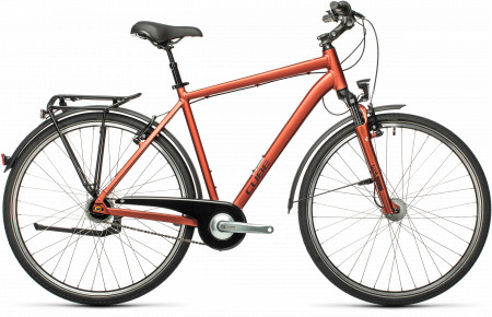 BICICLETA CUBE TOWN PRO RED`N´GREY