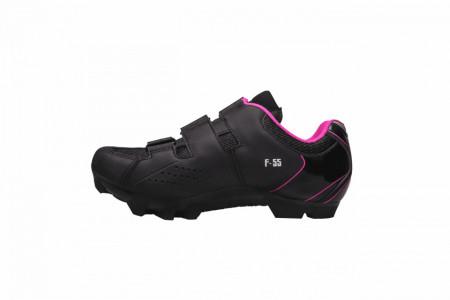 Pantofi ciclism FLR F-55 III Elite MTB - Negru-Roz