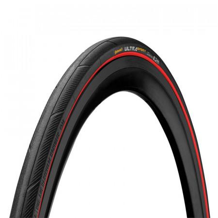 Anvelopa pliabila Continental UltraSport III 23-622 negru/rosu