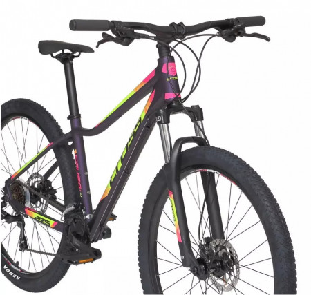 Bicicleta MTB Cross Causa SL1, 27.5″, albastru-galben-roz