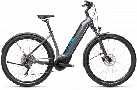 BICICLETA CUBE NURIDE HYBRID PRO 500 ALLROAD EASY ENTRY Grey Blue