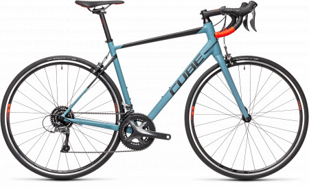 BICICLETA CUBE ATTAIN Greyblue Red