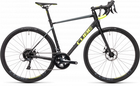 BICICLETA CUBE ATTAIN PRO Black Flashyellow