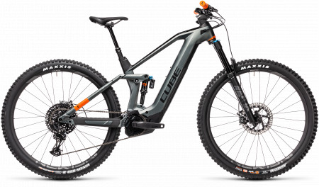 BICICLETA CUBE STEREO HYBRID 140 HPC TM 625 Flashgrey Orange