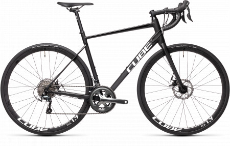BICICLETA CUBE ATTAIN RACE Black White