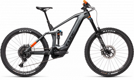 BICICLETA CUBE STEREO HYBRID 160 HPC TM 625 27.5 Flashgrey Orange