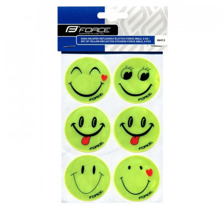 Set Autocolante Reflectorizante Force Smile 6 Bucati