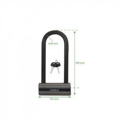 Antifurt Force U-Lock 30x14.5cm Otel Gri/Negru