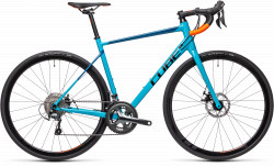 BICICLETA CUBE ATTAIN RACE Petrol Orange