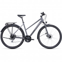 Bicicleta CUBE NATURE ALLROAD TRAPEZE Graphite Black