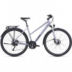 Bicicleta CUBE NATURE EXC ALLROAD TRAPEZE Polarsilver Black