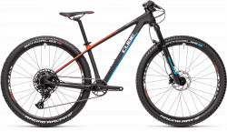 BICICLETA CUBE REACTION C:62 ROOKIE Carbon Blue Red
