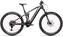 BICICLETA CUBE STEREO HYBRID 120 TM 625 Flashgrey Orange