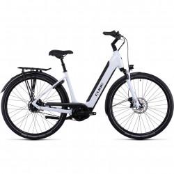 Bicicleta CUBE SUPREME RT HYBRID EXC 500 EASY ENTRY Flashwhite Black
