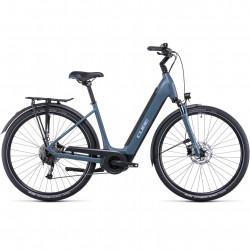 Bicicleta CUBE SUPREME SPORT HYBRID ONE 400 EASY ENTRY Greyblue Blue