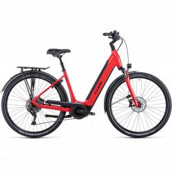 Bicicleta CUBE SUPREME SPORT HYBRID PRO 625 EASY ENTRY Red Black
