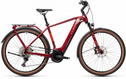 BICICLETA CUBE TOURING HYBRID EXC 500 Red Grey