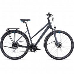 Bicicleta CUBE TOURING ONE IRIDIUM BLUE TRAPEZE Grey Blue