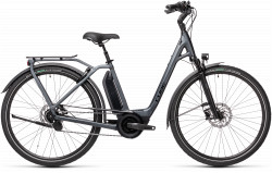 BICICLETA CUBE TOWN HYBRID EXC 500 EASY ENTRY Iridium Black