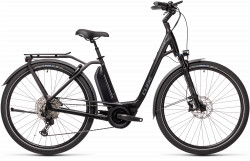 BICICLETA CUBE TOWN SPORT HYBRID EXC 500 EASY ENTRY Black Grey