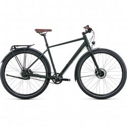 Bicicleta CUBE TRAVEL PRO Blackgreen Green