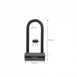 Lacat Force U-Lock 30x14.5 cm otel gri/negru