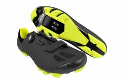Pantofi ciclism FLR F-70 Elite MTB - Negru - Galben Neon