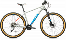 BICICLETA CUBE AIM SL Grey Blue Red