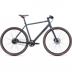 Bicicleta CUBE HYDE RACE IRIDIUM BLACK Grey Black