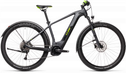 BICICLETA CUBE REACTION HYBRID PERFORMANCE 500 ALLROAD Iridium Green