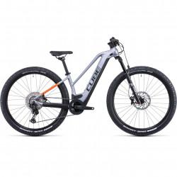 Bicicleta CUBE REACTION HYBRID SL 625/750 29 TRAPEZE Polarsilver Orange