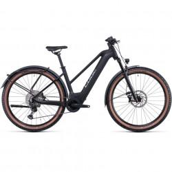 Bicicleta CUBE REACTION HYBRID SL 625/750 ALLROAD 29 TRAPEZE Black Metal