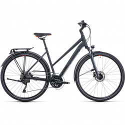 Bicicleta CUBE TOURING EXC IRIDIUM ORANGE TRAPEZE Grey Orange