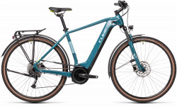 BICICLETA CUBE TOURING HYBRID ONE 400 Blue Green