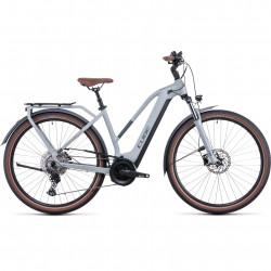 Bicicleta CUBE TOURING HYBRID PRO 625 TRAPEZE Lunar Grey