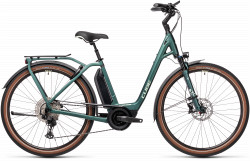 BICICLETA CUBE TOWN SPORT HYBRID EXC 500 EASY ENTRY Green Green