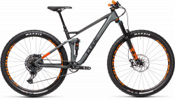 BICICLETA CUBE STEREO 120 HPC TM 29 Flashgrey Orange