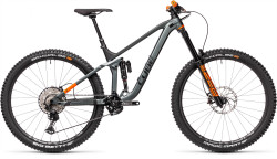 BICICLETA CUBE STEREO 170 TM 29 Flashgrey Orange