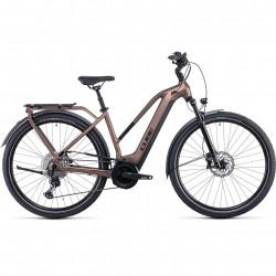 Bicicleta CUBE TOURING HYBRID EXC 500 TRAPEZE Mocha Black