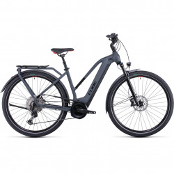 Bicicleta CUBE TOURING HYBRID EXC 625 TRAPEZE Grey Red