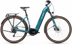BICICLETA CUBE TOURING HYBRID ONE 500 Blue Green