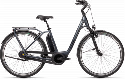BICICLETA CUBE TOWN RT HYBRID EXC 500 EASY ENTRY Iridium Black