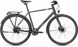BICICLETA CUBE TRAVEL EXC Iridium Blue