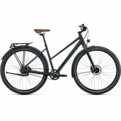 Bicicleta CUBE TRAVEL PRO TRAPEZE Blackgreen Green