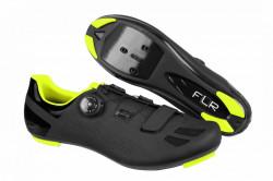 Pantofi ciclism FLR F-11 Pro Road - Negru-Galben Neon