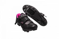 Pantofi ciclism FLR F-65 III Elite MTB - Negru-Roz