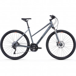 Bicicleta CUBE NATURE SL TRAPEZE Flashgrey Orange