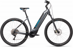 BICICLETA CUBE NURIDE HYBRID PRO 625 EASY ENTRY Grey Blue