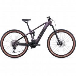 Bicicleta CUBE STEREO HYBRID 120 RACE 625 Smokylilac Black