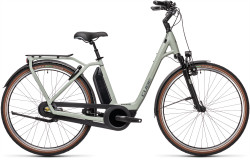BICICLETA CUBE TOWN RT HYBRID EXC 500 EASY ENTRY Lunar Grey